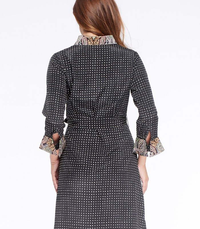 Shirt dress Niza with check pattern