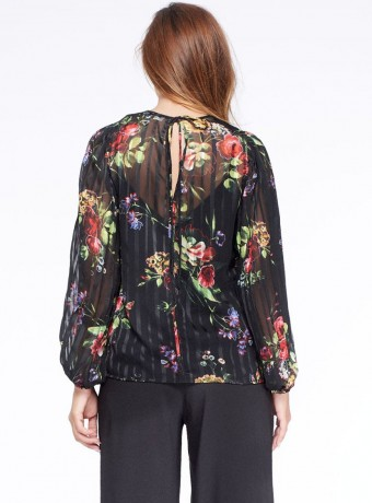 Blouse Niza with transparency and inner top