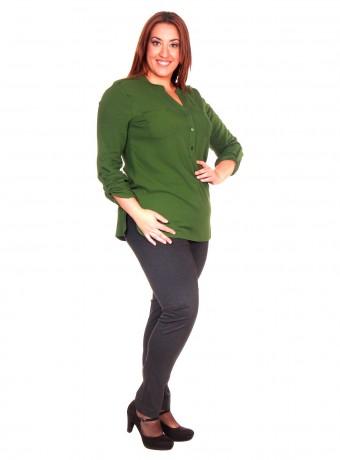 Blusa manga larga verde