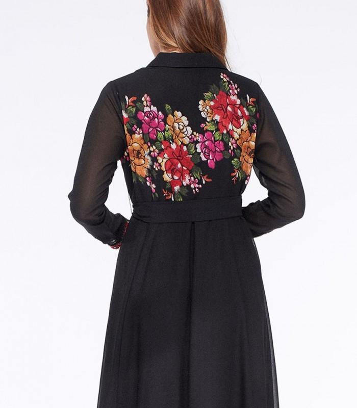 Vestido camisero largo Niza con estampado floral