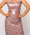 Midi dress Luisa Jaro light pink