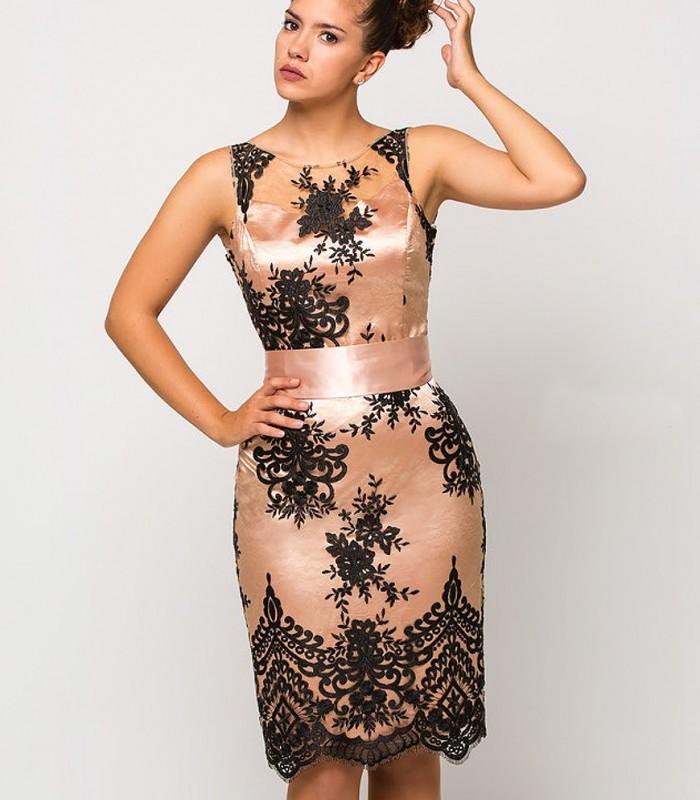 Midi dress Luisa Jaro in pink and black