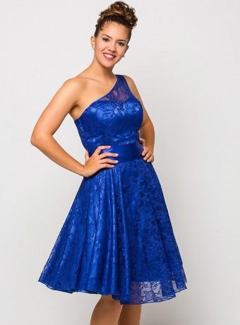 Vestido Luisa jaro corto azul eléctrico
