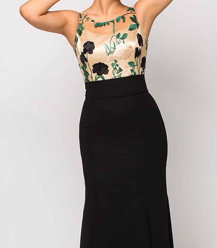 Maxi dress Luisa Jaro with top embroidery
