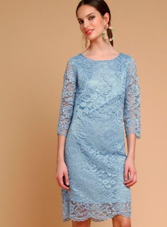 Vestido Lirico Almatrichi azul celeste