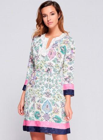 Short elastane print dress Niza