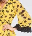 Floral print midi dress Niza in yellow