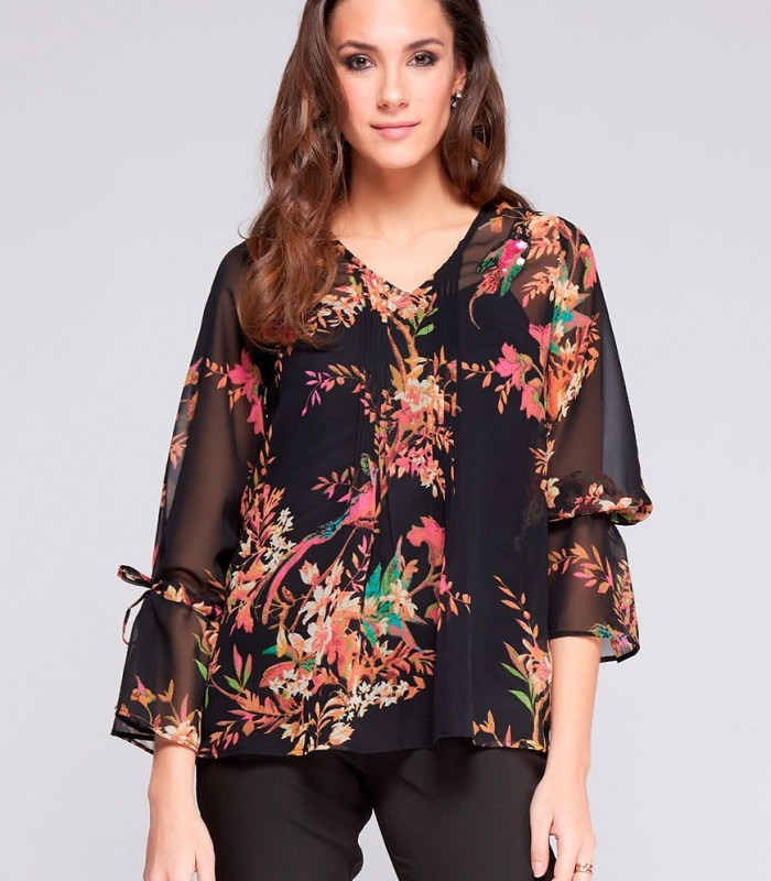 Bird print Niza blouse