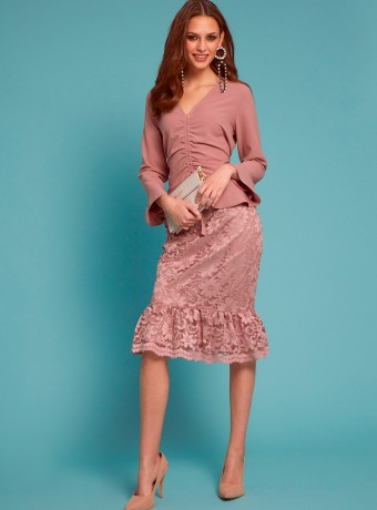 Light pink Almatrichi dress lirico