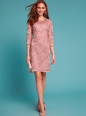 Vestido lirico almatrichi de encaje