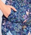 Pantalón niza estampado recto azul