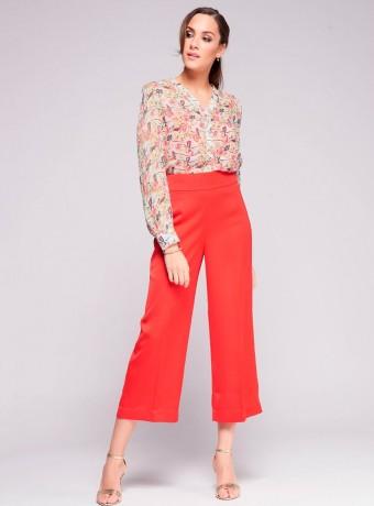Pantalon Niza rojo capri