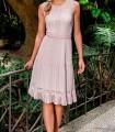 Vestido rosa de encaje Olimara