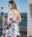 Pront deep neckline maxi dress