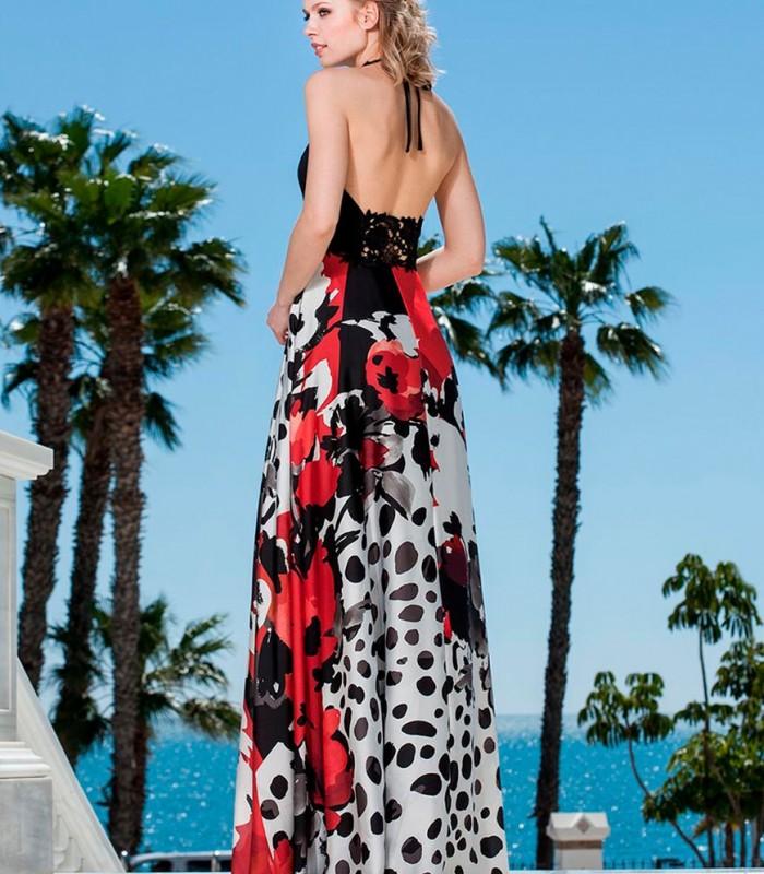 Open front maxi dress