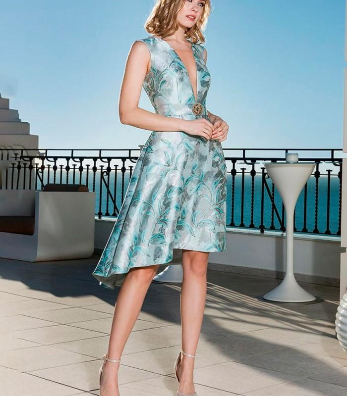 Asymmetric cut midi dress