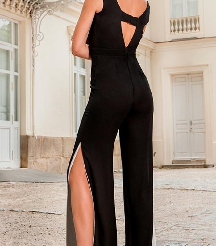 Maxi jumpsuit black and white