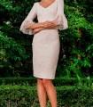 Vestido recto manga francesa Olimara