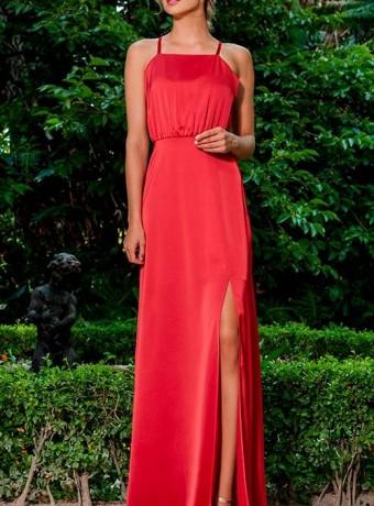 Olimara semi-covered back long dress