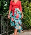Olimara printed ruffled skirt