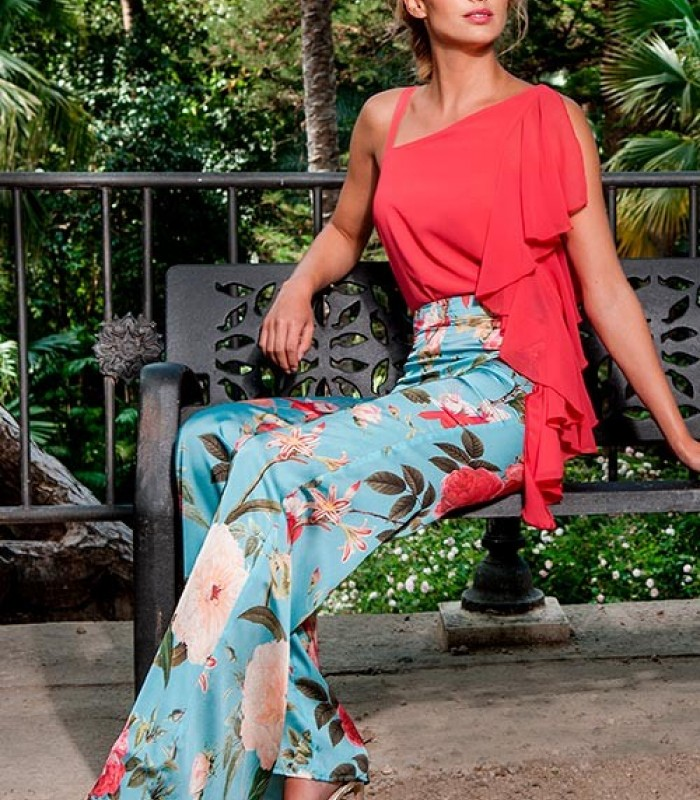 Pantalón estampado floral Olimara