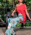 Olimara floral print trousers