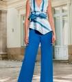 Olimara blue striped blouse
