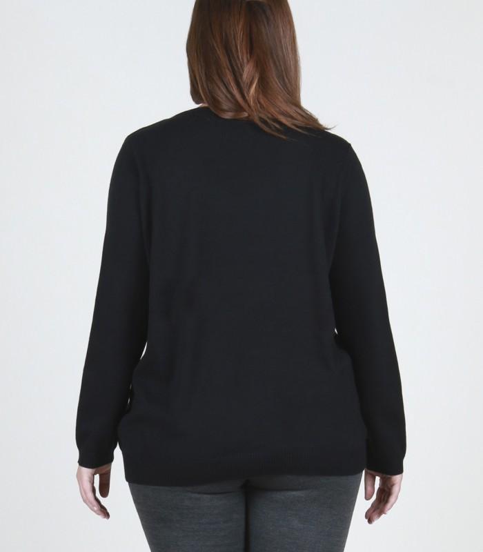 Jersey de pico negro con tachas
