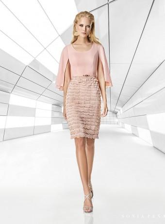 pale pink short dress and fringe skirt