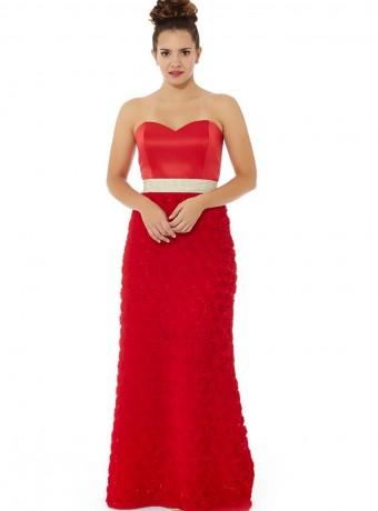 Vestido rojo palabra de honor