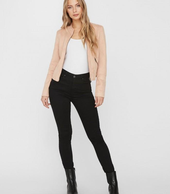 Pink imitation suede jacket