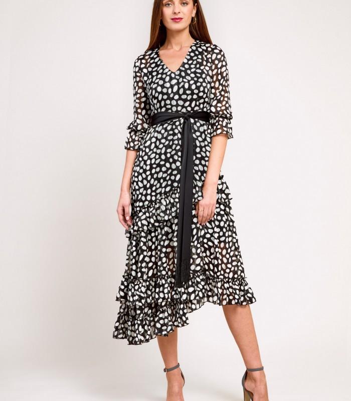 Tiered Polka Dot Print Dress