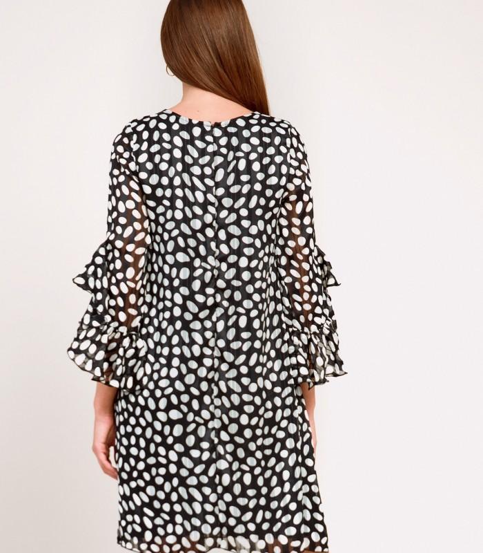 Vestido corto de lunares con escote  en pico