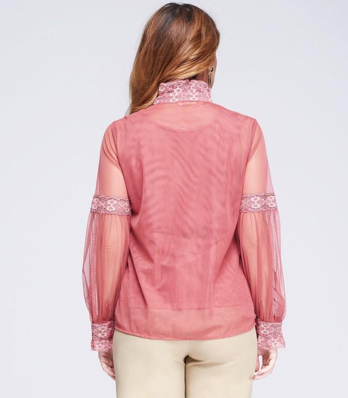 Blusa rosa de tul y encaje