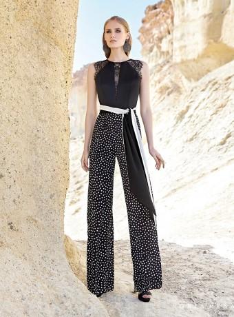 Black and polka dot jumpsuit