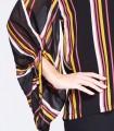 Blusa de rayas t cuello de pico