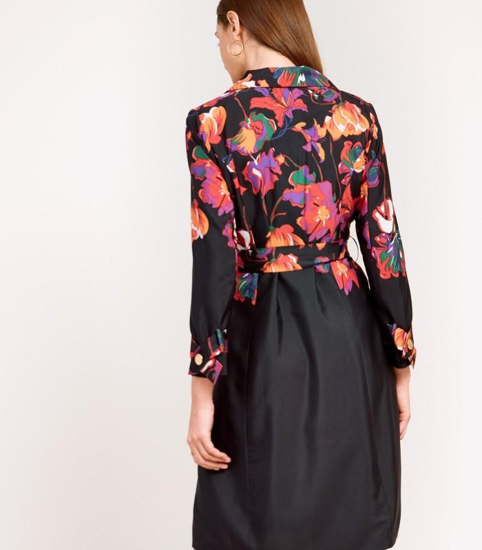 Vestido corto estampado estilo gabardina