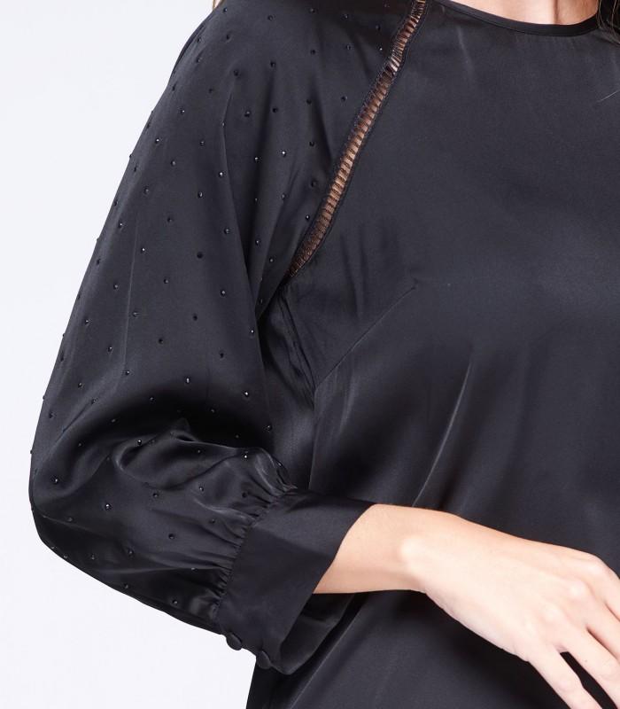 Blusa negra manga Swaroski