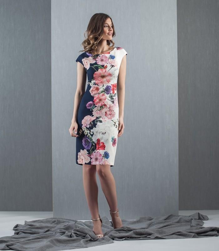 printed short sleeve short dress