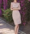 Short pink dress with back neckline
