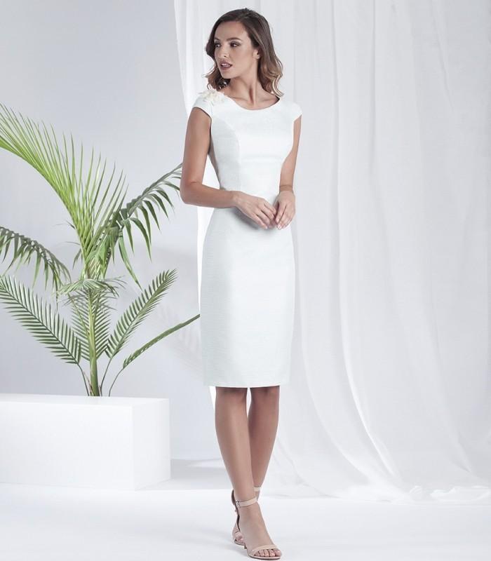 Straight cut pearl dress
