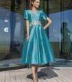 Turquoise midi flight dress