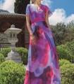 Vestido Olimara estampado floral y escote de cruzado
