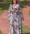 Maxi dress Trios with stamped flower on the waist