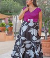 Vestido largo Celestina top Buganvilla  y falda estampa