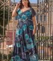 Vestido largo Celestina con estampado floral