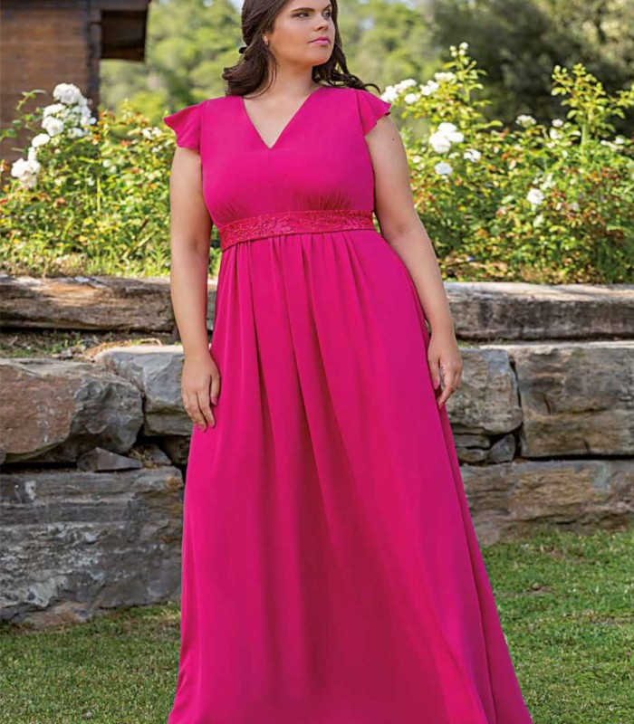 Maxi dress Trios with french sleeves