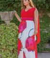 Vestido largo Celestina Estampado rojo
