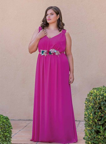 Long dress Celestina fuchsia
