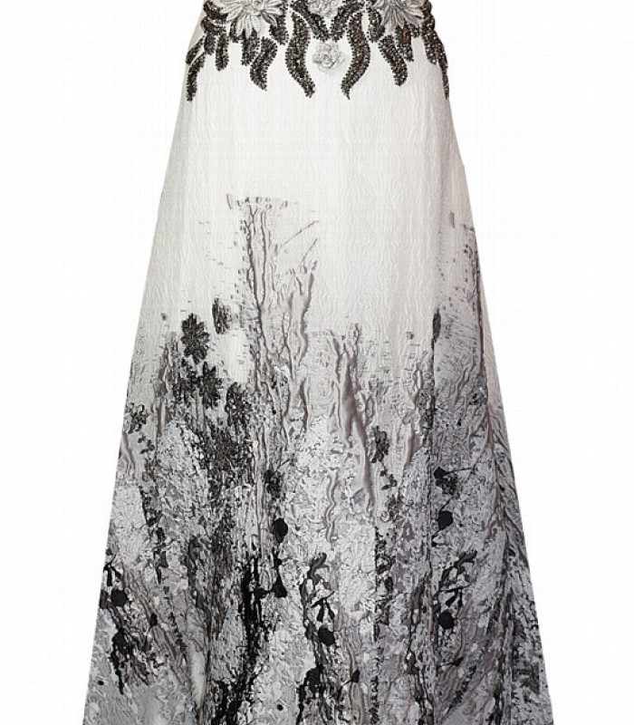 long dress with brocade details